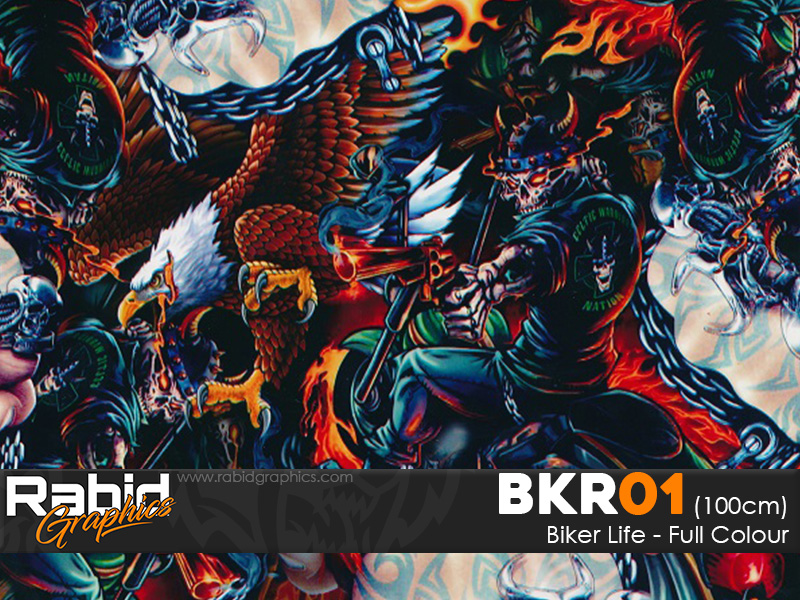 Biker Life - Full Colour (100cm)