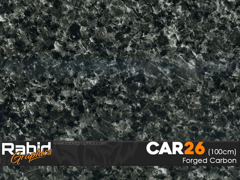 Forged Carbon - Black (100cm)