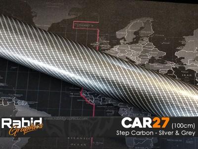 Step Carbon - Silver & Grey (100cm)