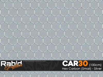 Hex Carbon (Small) - Silver (100cm)