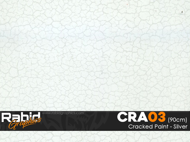 Cracked Paint - Silver (90cm)