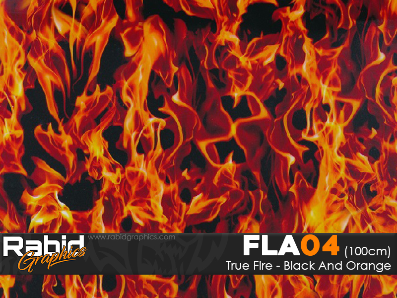 True Fire - Black & Orange (100cm)