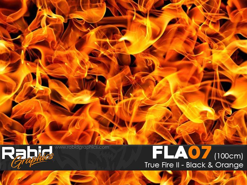 True Fire II - Black & Orange (100cm)