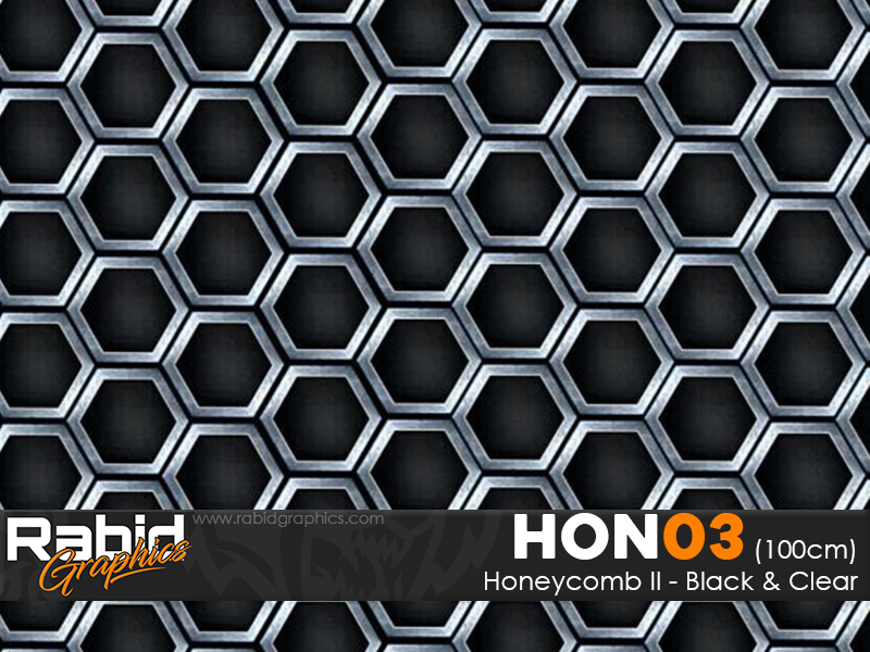 Honeycomb II - Black & Clear (100cm)
