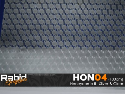 Honeycomb II - Silver & Clear (100cm)