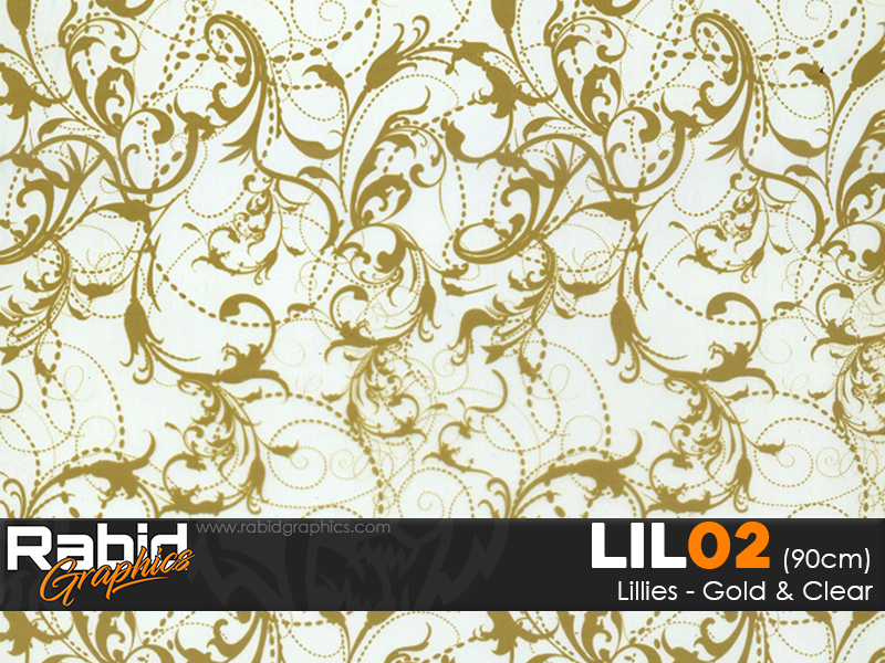 Lillies - Gold & Clear (90cm)
