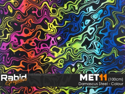 Damascus Steel - Colour (100cm)