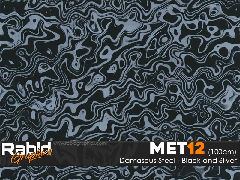 Damascus Steel - Silver (100cm)