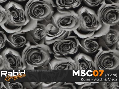 Roses - Black and Clear (50cm)
