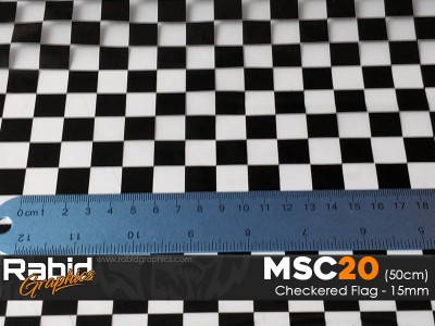 Checkered Flag - 15mm (50cm)