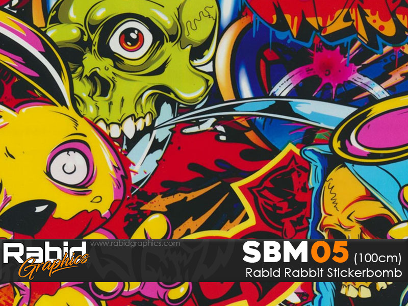 Rabid Rabbit Stickerbomb (100cm)